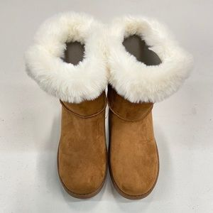 SO Faux Fur Ankle Booties